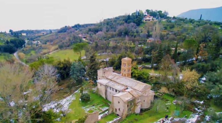 Abbazia di San Giovanni in Argentella, vista aerea del complesso religioso