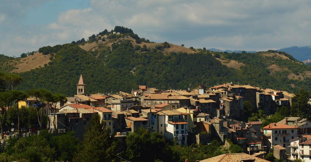Vista di Affile, patria del vino Cesanese