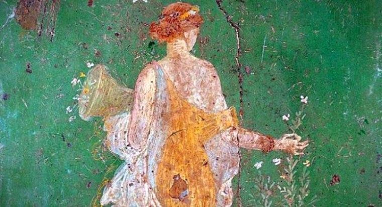 Flora, divinità romana, protettrice della fioritura dei campi e dei raccolti, della fecondità della terra. A lei erano dedicati i Floralia, festeggiamenti per la Primavera