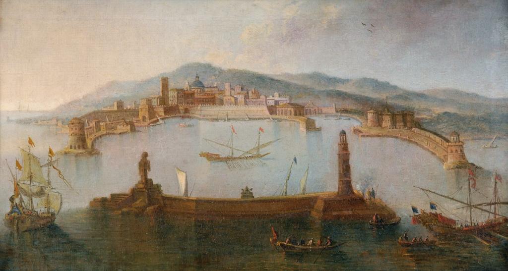Porto di Civitavecchia - raffigurazione antica