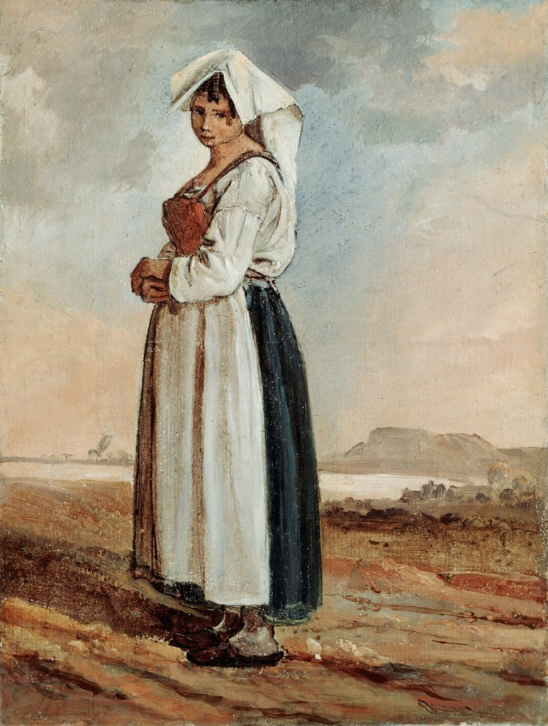 Ritratto di una popolana con abiti laziali