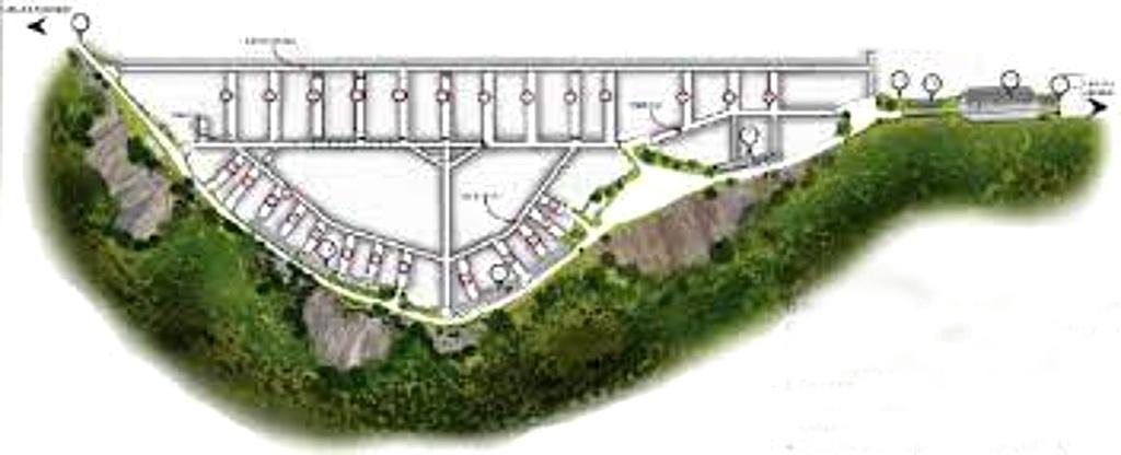 Schema planimetrico della rete di gallerie del Monte Soratte